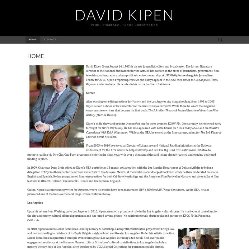David Kipen I Print - Broadcast - Public - Conversation  - R-TDesign.com