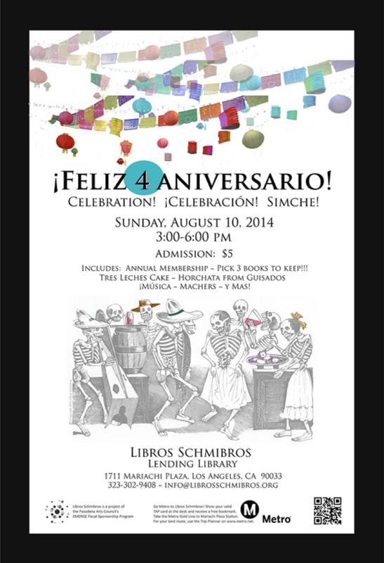 Libros Schmibros 4th Aniversario poster - R-TDesign.com